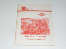 Riley Cars 1940 - 1945 (Brooklands Books)